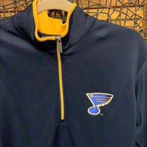 Antigua Shirts - Antigua St Louis Blues light weight pullover